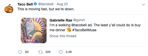TacoBell Social Media Management Example